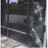 película de segurança vidro